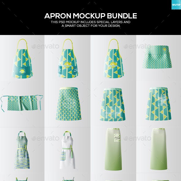 Apron Mockup Bundle