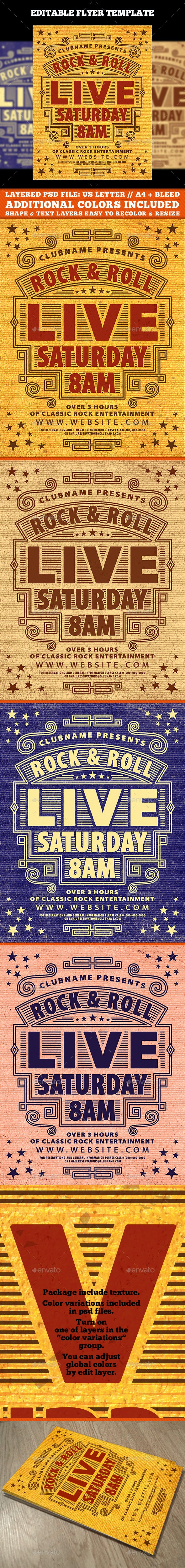 Vintage Music Flyer Template - Events Flyers