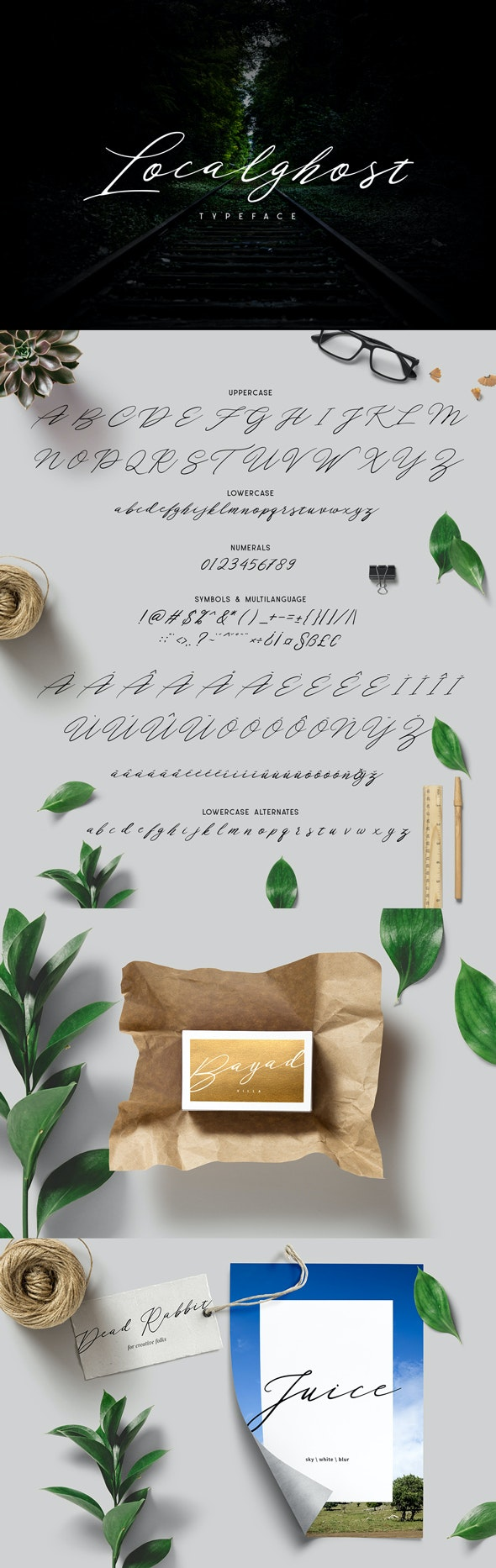 Localghost Typeface - Hand-writing Script
