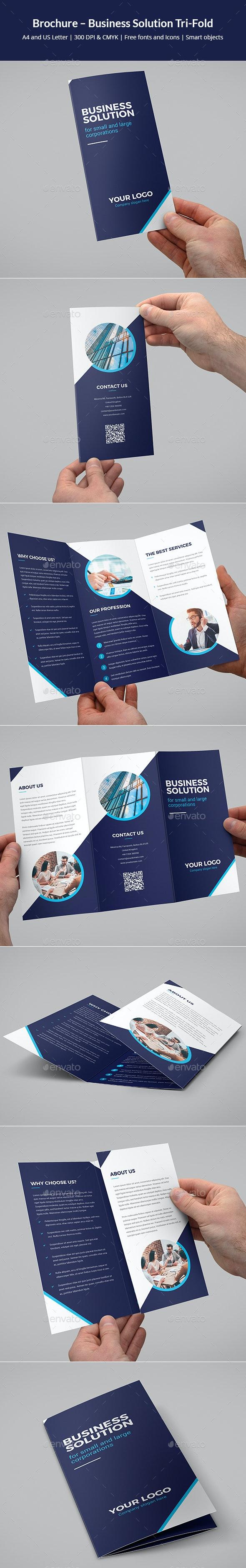 Brochure – Business Solution Tri-Fold - Corporate Brochures