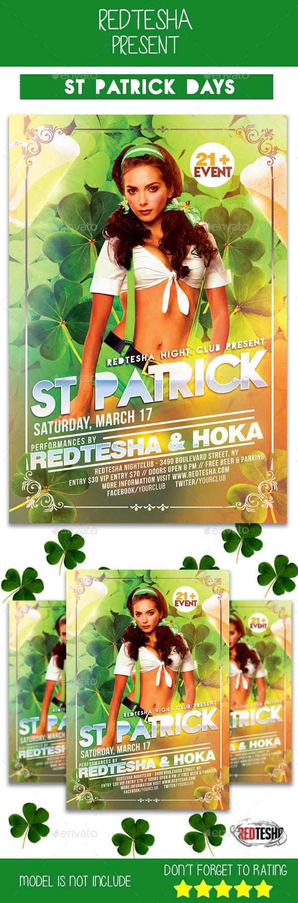 St Patrick Days Flyer - Events Flyers