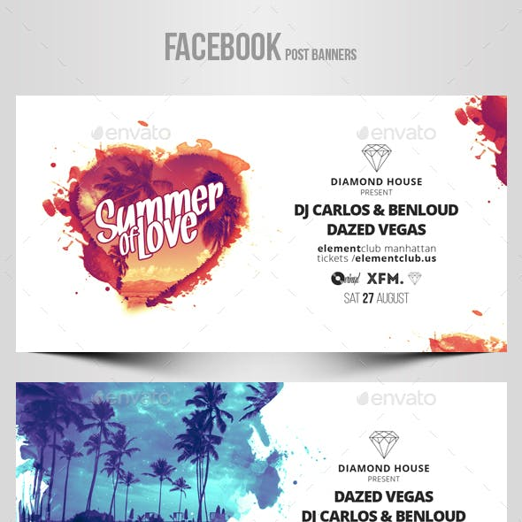 Electronic Music Party vol.16 - Facebook Post Banner Templates