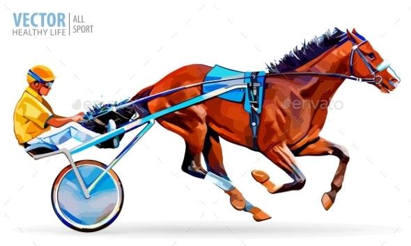Jockey and Horse - Sports/Activity Conceptual