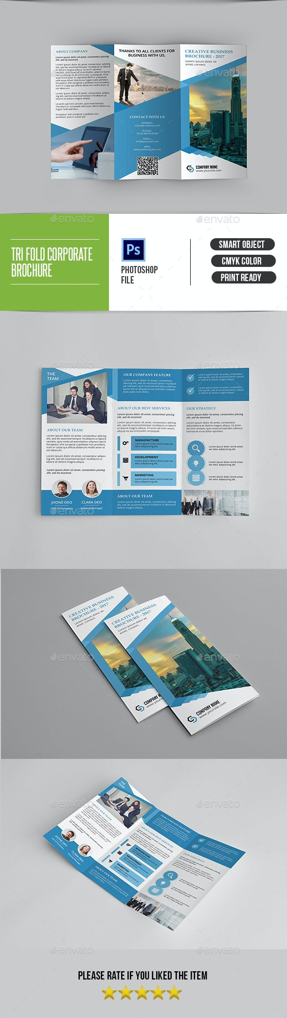 Corporate Trifold Brochure-V297 - Corporate Brochures