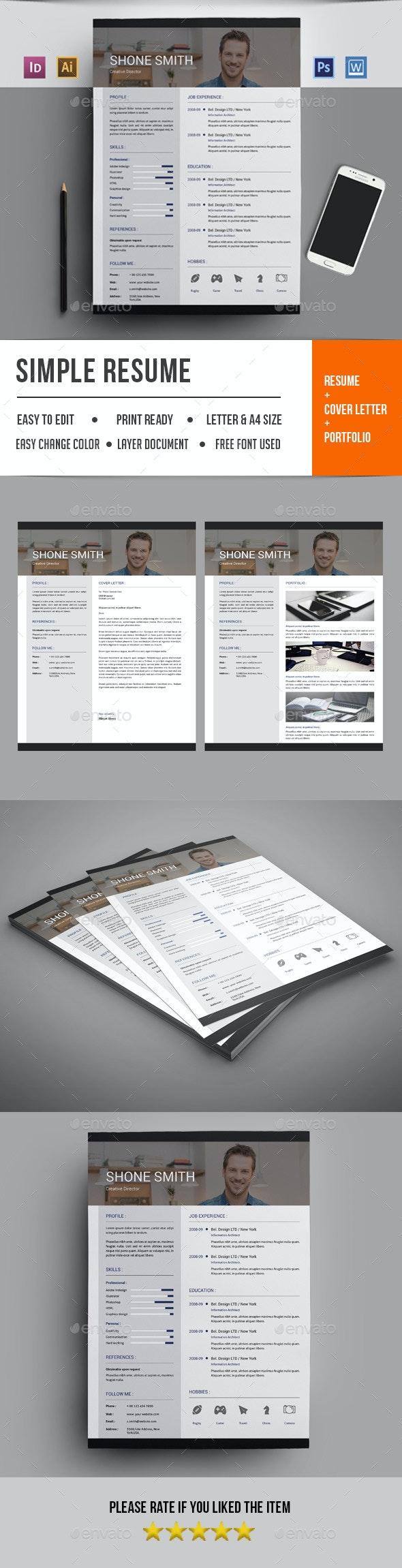 Resume Template-V18 - Resumes Stationery