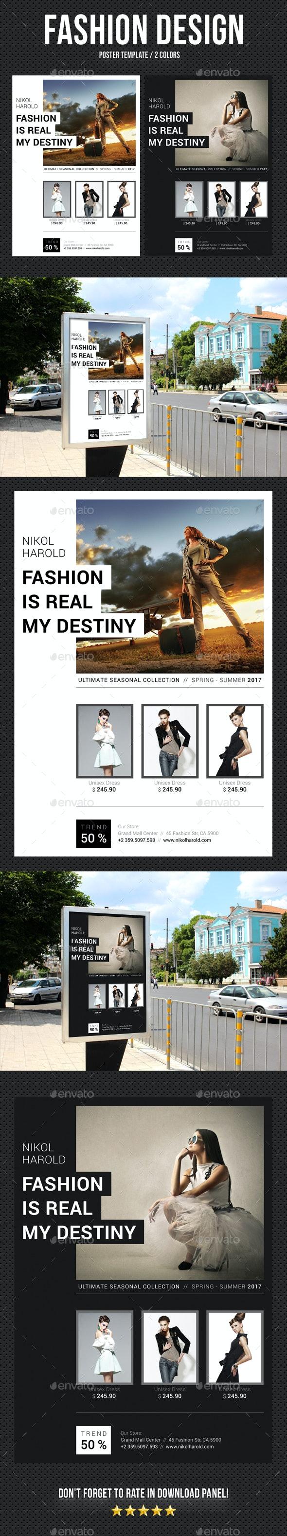 Fashion Poster 02 - Signage Print Templates