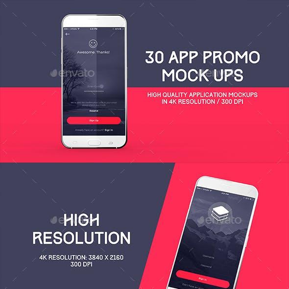 30 App Promo Mock Ups Pack
