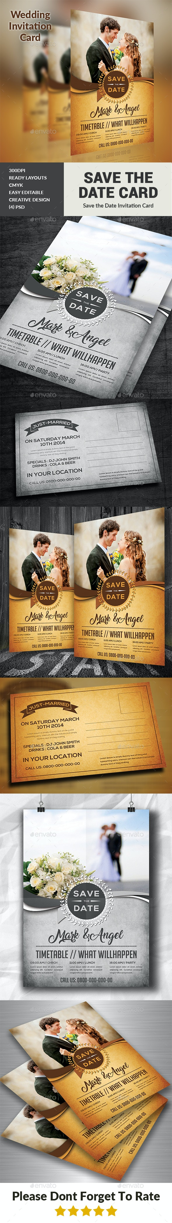 Wedding Invitation - Cards & Invites Print Templates