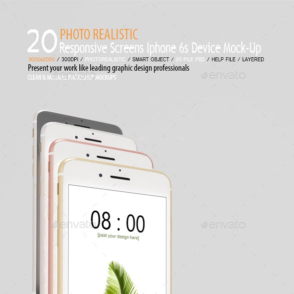 Responsive Screens Phone 6s Device Mock-Up