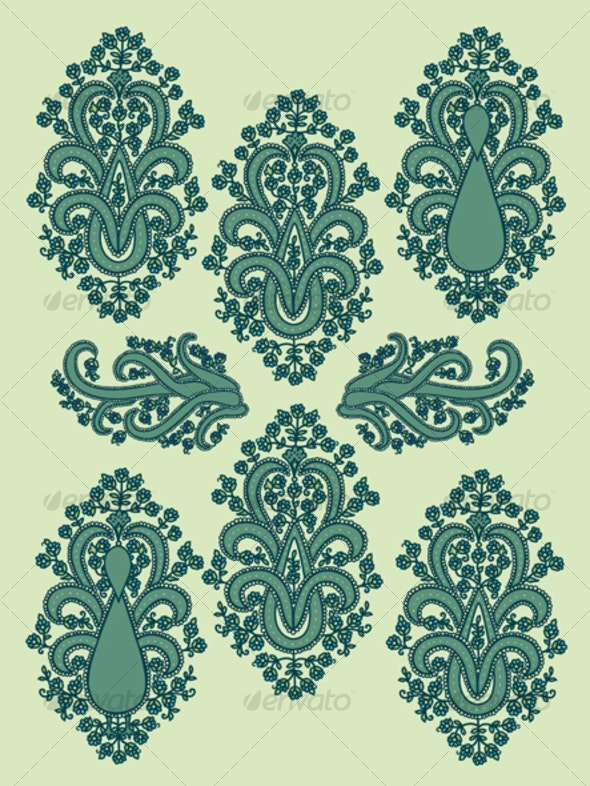 Paisley Peacocks - Patterns Decorative