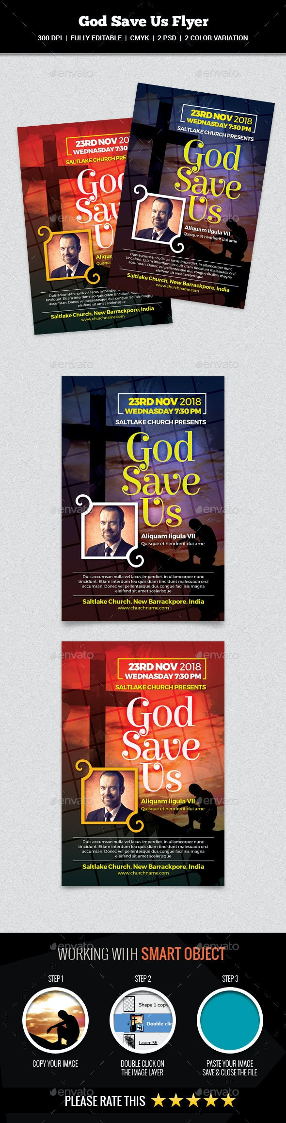 God Save Us Flyer - Church Flyers