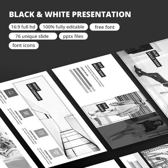 Black & White - Google Slide