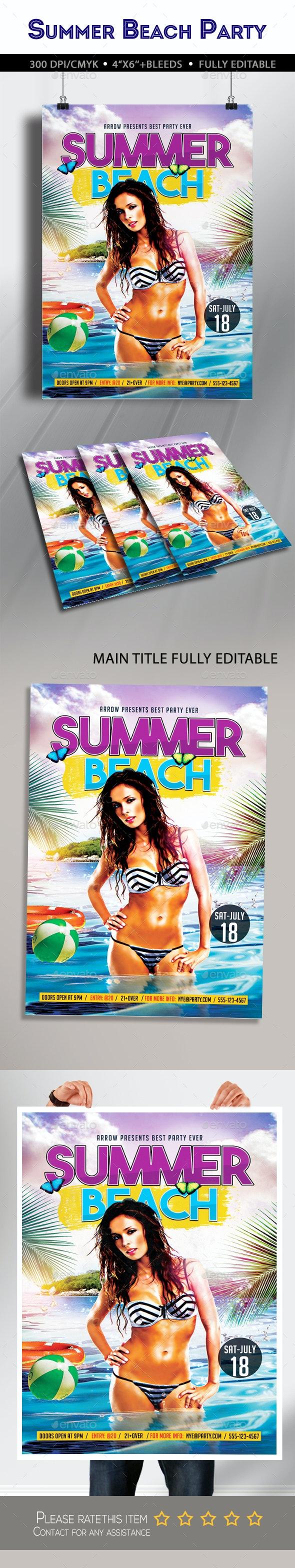 Summer Beach Flyer - Clubs & Parties Events