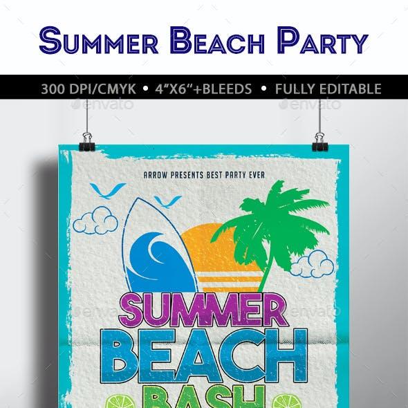 Summer Beach Bash Flyer