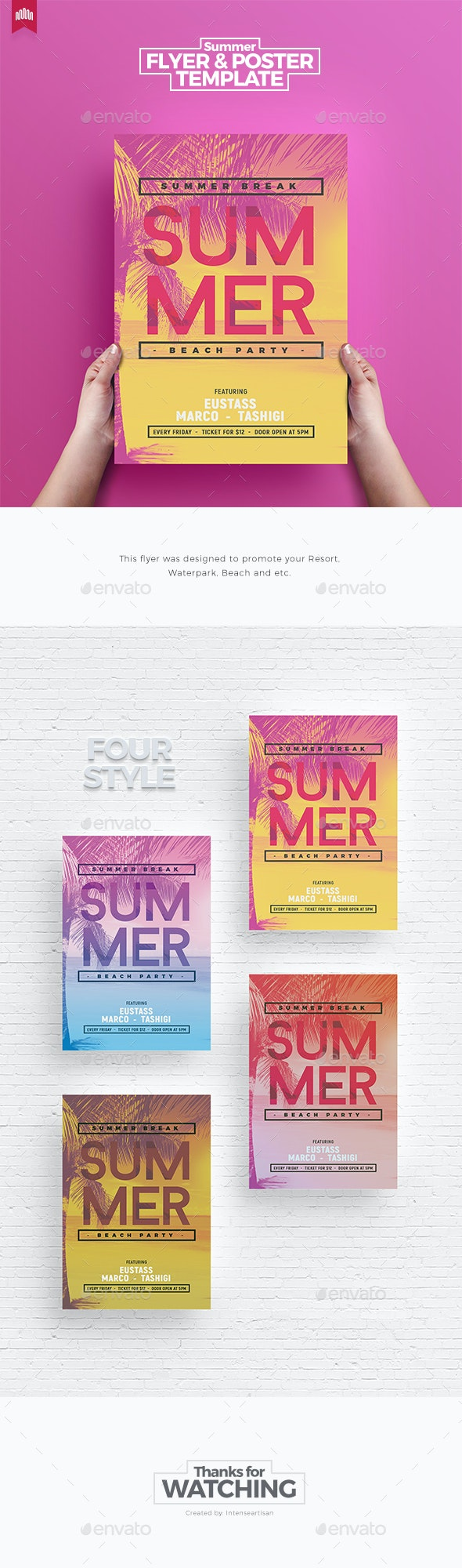 Summer - Flyer Template - Clubs & Parties Events