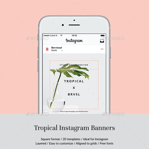 Tropical Instagram Banners