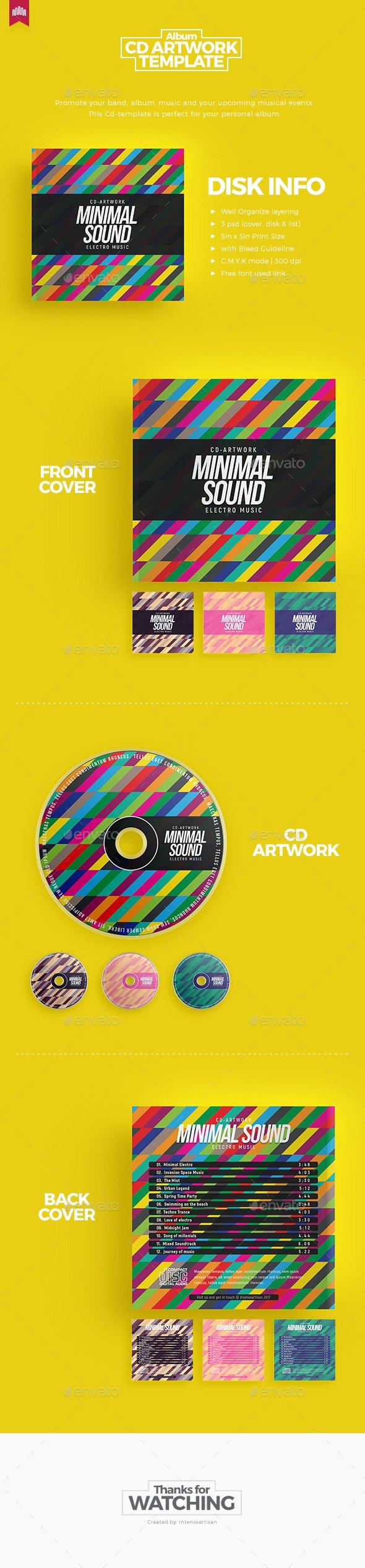 Minimal Sound - Cd Artwork - CD & DVD Artwork Print Templates