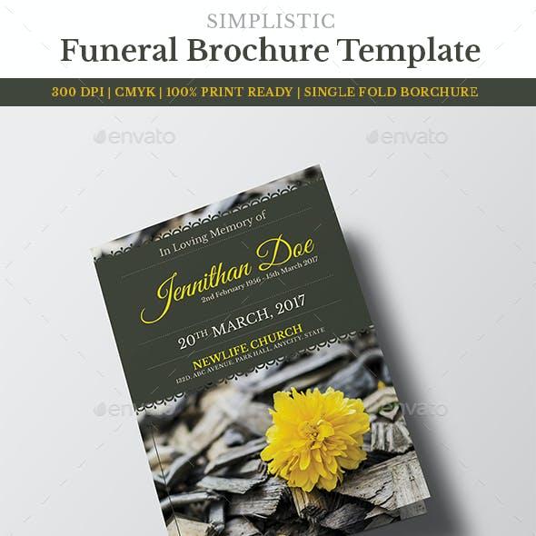 Funeral Program Brochure Template 6