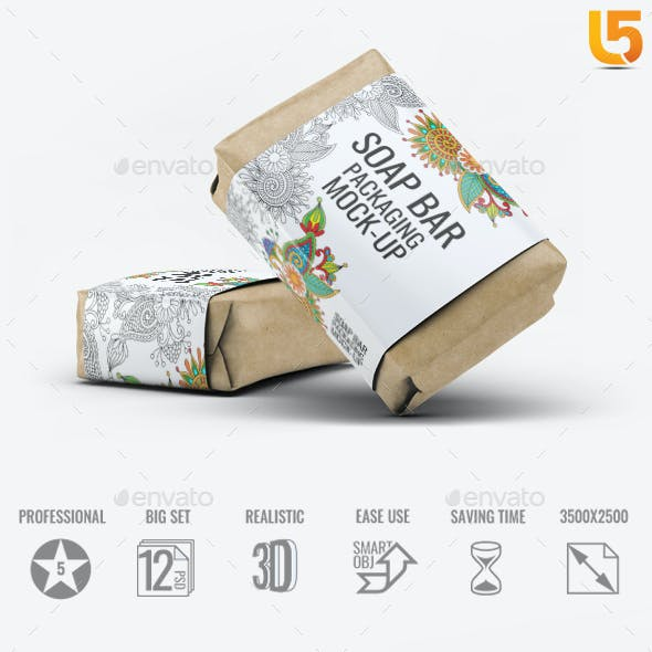 Soap Bar Paper Sleeve Mock-Up
