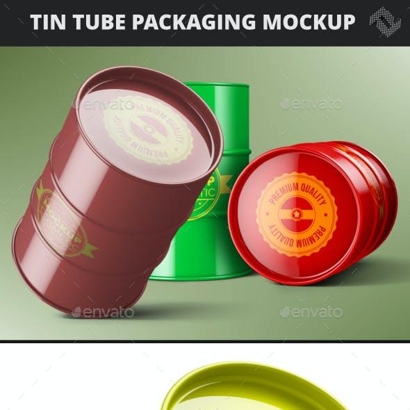 Cosmetic Tin Tube Mockup