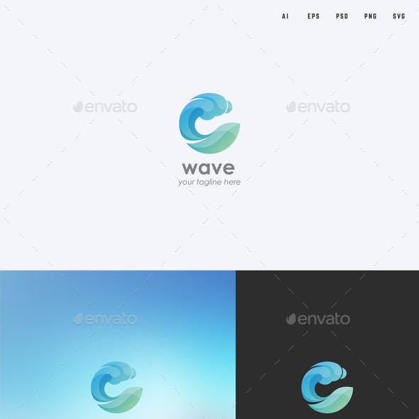 Water/Wave Logo Template