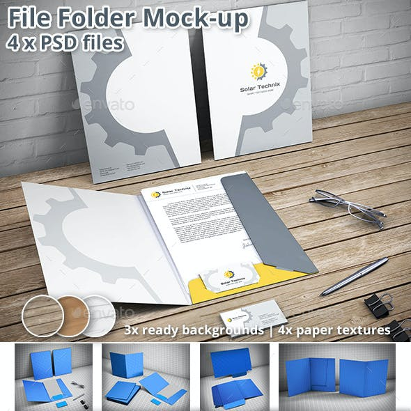 Folder Mockup Graphics, Designs & Templates from GraphicRiver