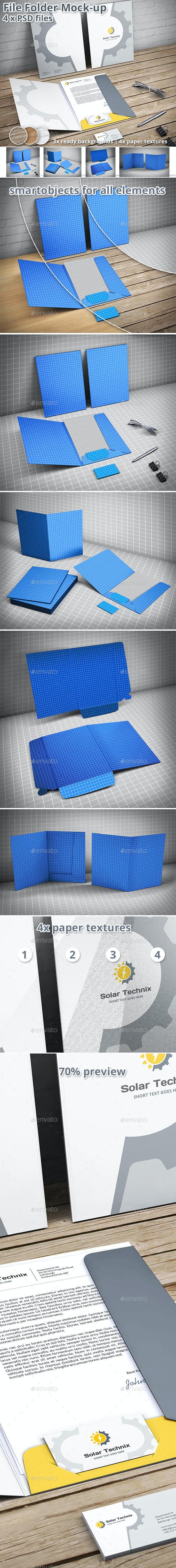 Document Folder Mockup - File Folder - Print Product Mock-Ups
