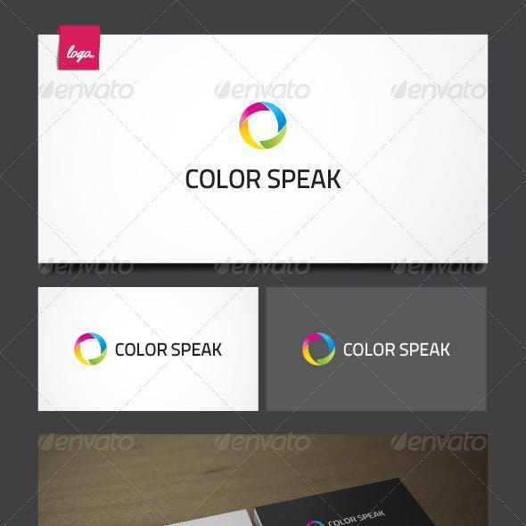 Color Speak Logo Template