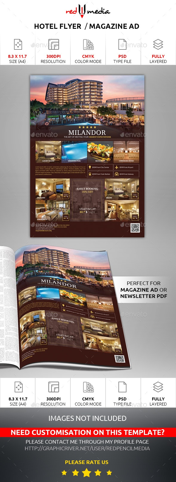 Hotel Flyer / Magazine AD - Commerce Flyers
