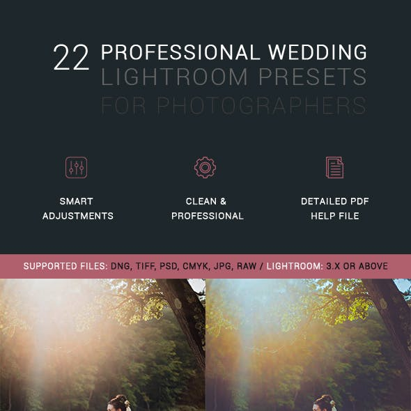 22 Professional Wedding Lightroom Presets