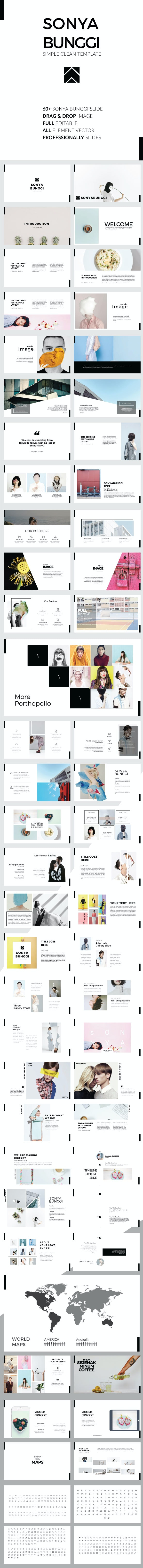 Sonya Bunggi - Simple Clean Keynote Template - Business Keynote Templates