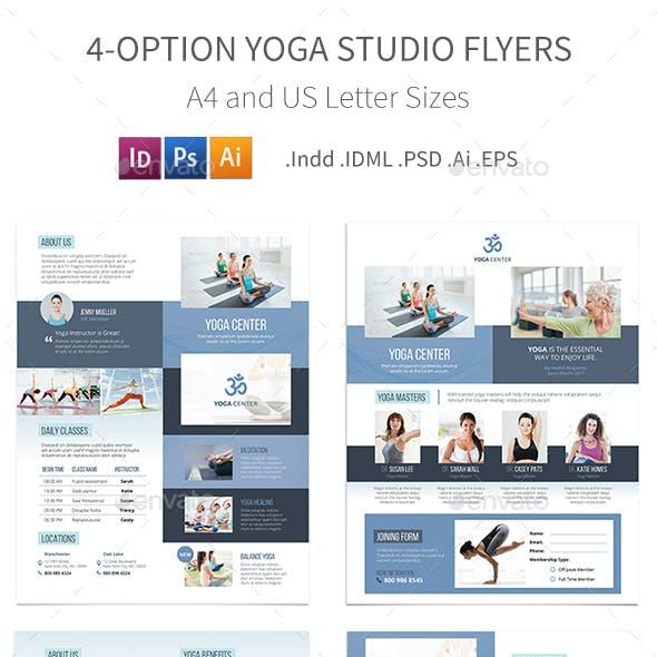 Yoga Studio Flyers – 4 Options