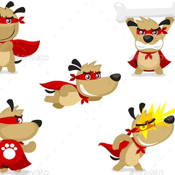 Cartoon Super Dog Set