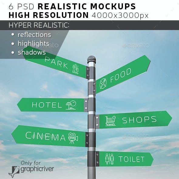 Signpost / Guidepost Mockup