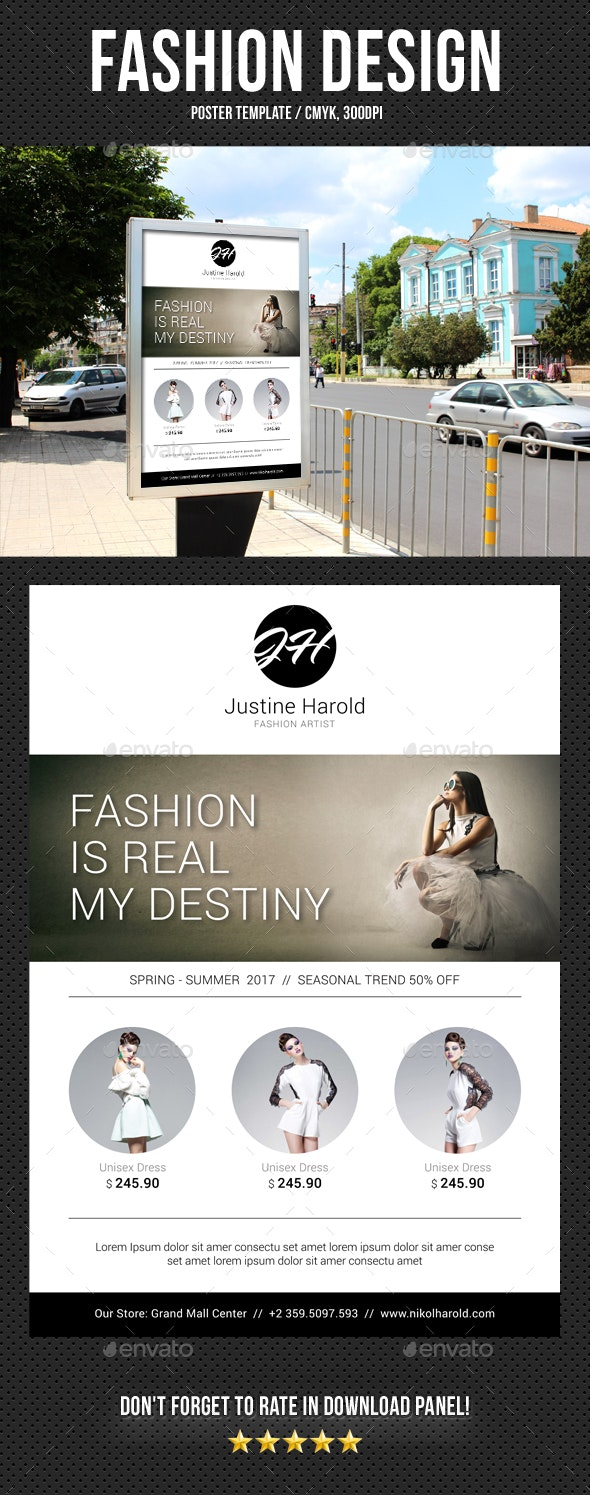 Fashion Poster 03 - Signage Print Templates