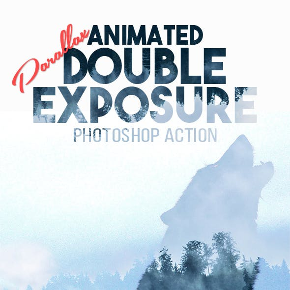 Animated Parallax Double Exposure Photoshop Action