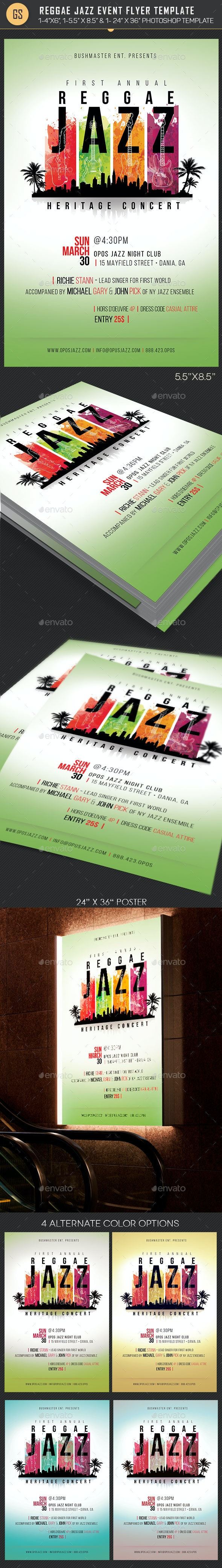 Reggae Jazz Event Flyer Poster Template - Events Flyers