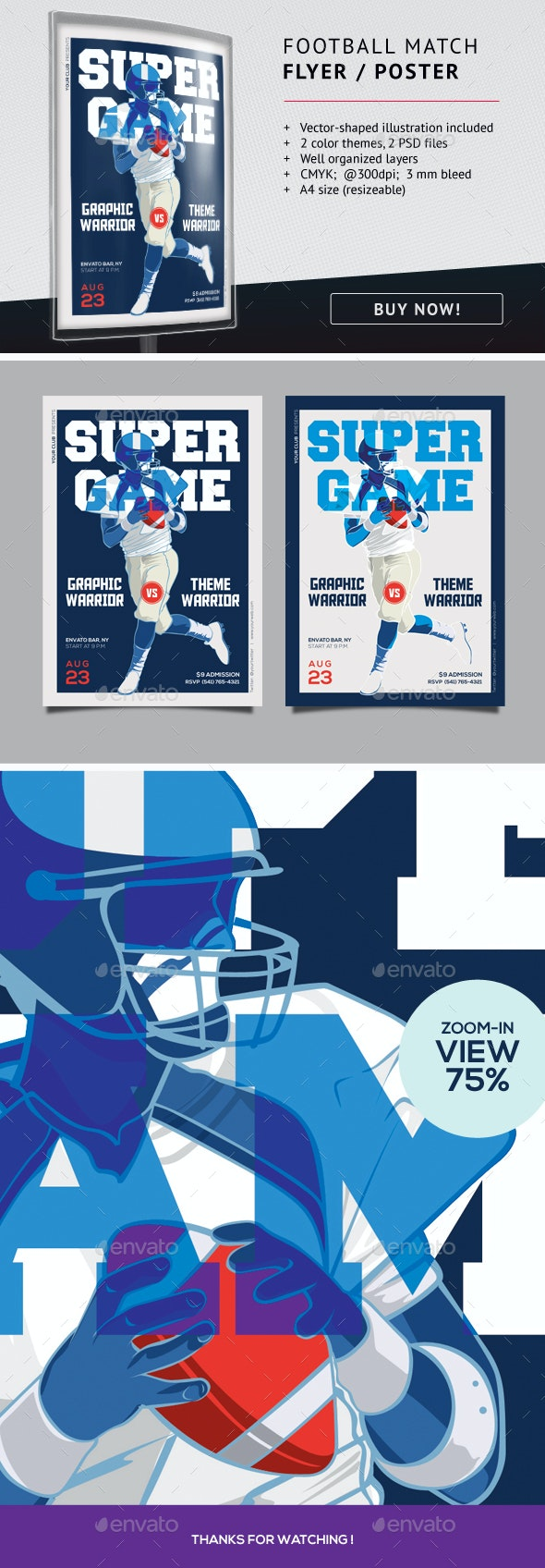 Football Match Flyer Template - Sports Events