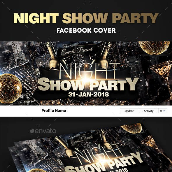 Night Club Party Facebook Timeline Covers