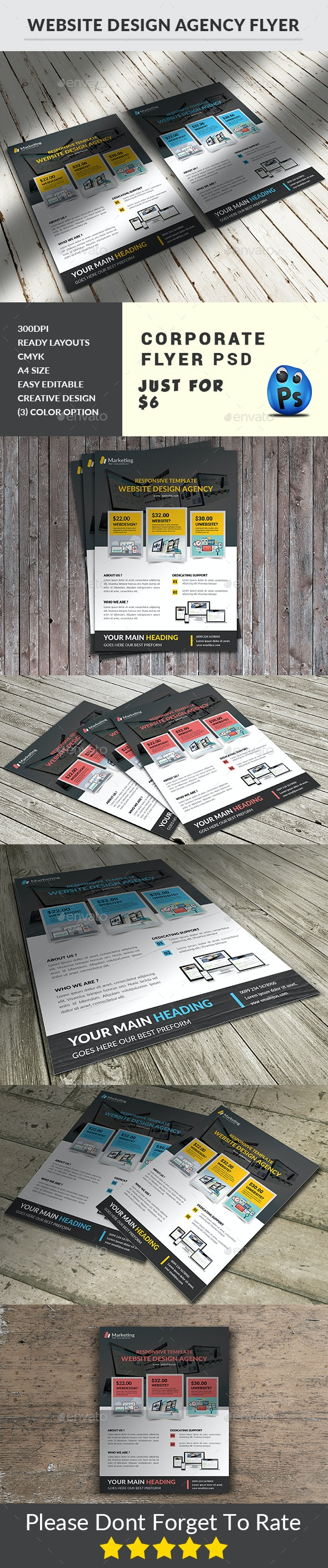 Website Design Agency Flyer - Corporate Flyers