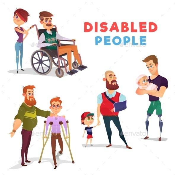 Set of Vector Cartoon Illustrations of People