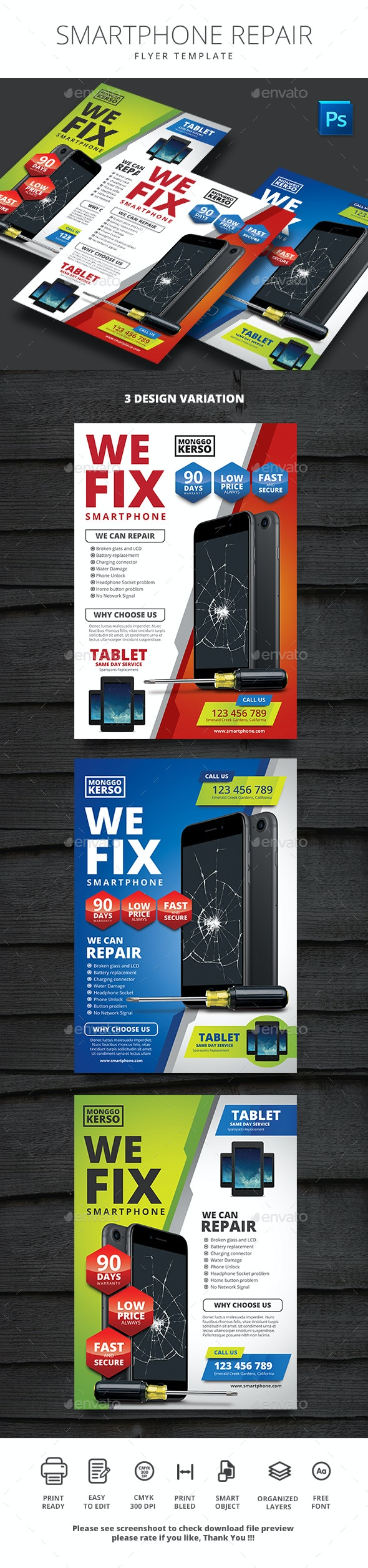 Smartphone Repair - Corporate Flyers