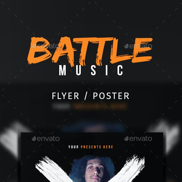X Battle Music Flyer