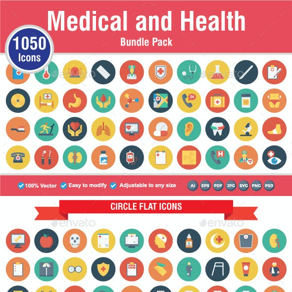 1050 Medical & Health Icons