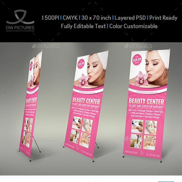 Beauty Center Signage Rollup Banner Template
