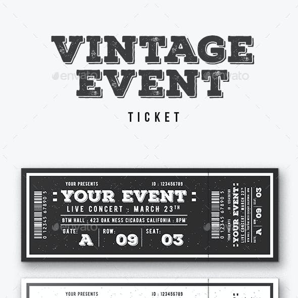 Vintage Event Ticket