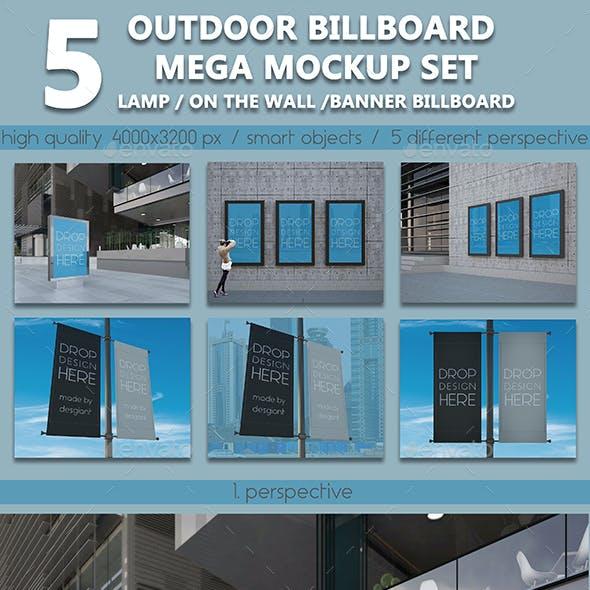 Outdoor Billboard Mega Mockup Set