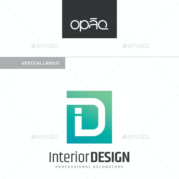 Interior Design Letter Logo