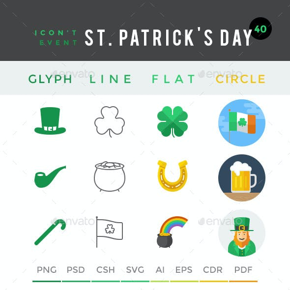 Icon't Event - 40 St. Patricks Day Icons by oelhoem