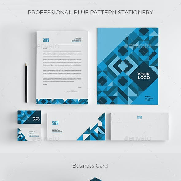 Professional Blue Pattern Stationery